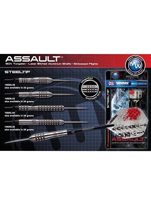 Winmau Assault %90 Tungsten Çelik Uçlu Dart-22 Gram Renkli